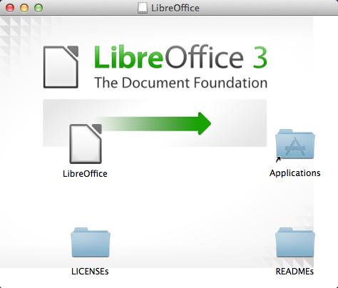 Skärmklipp - dra ikonen till Programmappen